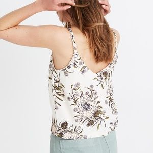 Madewell Button-Down Cami in Painted Blooms, sz 2
